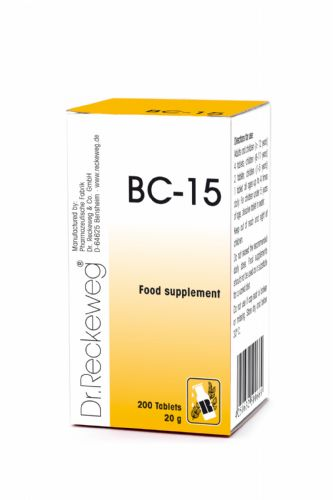 Schuessler BC15 combination cell salt - tissue salt